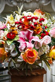 Altar flowers and statues. Royalty Free Stock Images