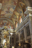 Altar in Franciscan Church of the Annunciation. Ljubljana, Slove Royalty Free Stock Images