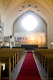 Altar frescoes in Tampere Lutheran Curch Royalty Free Stock Photography