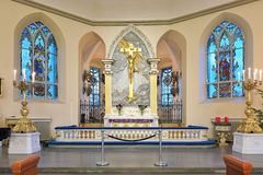 Altar of the German Christinae church in Gothenburg, Sweden Stock Photos