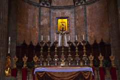 Altar Gold Icon Pantheon Rome Italy Royalty Free Stock Images