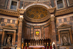 Altar Gold Icon Pantheon Rome Italy Stock Photos