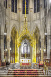 The Altar. Of a Gothic architectural styled Cathedral Stock Images