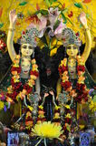 Altar - Gottheits-Hase Krishna Stockfotografie