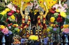 Altar - Gottheits-Hase Krishna Lizenzfreie Stockfotografie