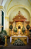 Altar in Guatemalan church Royalty Free Stock Photo