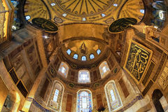 Altar of the Hagia Sophia and fresco of the Virgin Royalty Free Stock Image