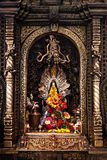Altar in hindu temple Royalty Free Stock Photo