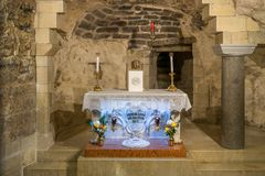 Altar in the house of Mary royalty free stock photo