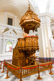 Altar and icons in old church in Arequipa, Peru, South America. Royalty Free Stock Photography