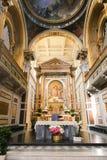Altar innerhalb der Basilika des Heiligen Mary Major Stockfotografie