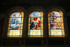 Altar innerhalb der Basilika des Heiligen Mary Major Lizenzfreies Stockbild