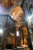 Altar innerhalb der Basilika des Heiligen Mary Major - Rom Stockbild