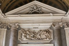 Altar innerhalb der Basilika des Heiligen Mary Major - Rom Lizenzfreie Stockfotos