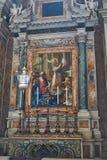 Altar innerhalb Sans Pietro Lizenzfreie Stockfotos