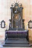 Altar. The altar inside of Nesvizh palace Stock Photos