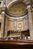 Altar inside the Pantheon building in Rome, Italy Royalty Free Stock Photos