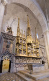 Altar in interior of gothic Cathedral. Tarragona Royalty Free Stock Photo
