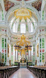 Altar of Jesuit Church in Mannheim, Germany. Chour and High Altar of Jesuit Church in Mannheim, Germany Royalty Free Stock Images