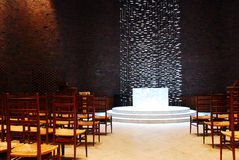 Altar of the Kresge Chapel, MIT Stock Photography