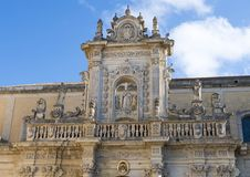 Altar lateral da catedral do domo em Lecce, Itália fotos de stock royalty free
