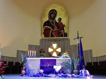Altar of Lent Stock Image