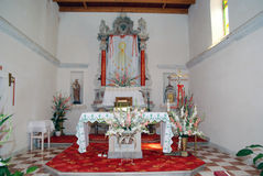 Altar in local church on island Susak near Mali Losinj. Altar in old local church in village Susak near Mali Losinj in Croatia Royalty Free Stock Image