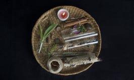 Altar mágico com ingredientes foto de stock royalty free