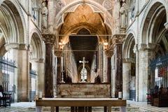 Altar maggiore B della cattedrale di Peterborough Fotografie Stock