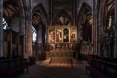 Altar maggiore barrocco nella cattedrale di Friburgo Fotografia Stock