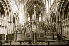 Altar maggiore della cattedrale di Lichfield Fotografie Stock Libere da Diritti