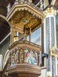 Altar maggiore di legno del ` dei ngeles del  di Nuestra Señora de los à della basilica del `, Cartago Fotografia Stock Libera da Diritti