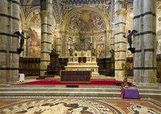 Altar maggiore di Siena Cathedral Immagine Stock Libera da Diritti