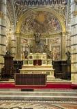 Altar maggiore di Siena Cathedral Immagini Stock Libere da Diritti