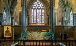 Altar maggiore nella cattedrale di pozzi Fotografia Stock