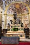 Altar maggiore nella cattedrale di Siena, Toscana, Italia Immagini Stock