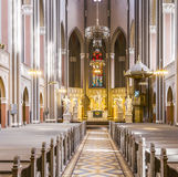 Altar within the Marktkirche (Market Church) in Wiesbaden Royalty Free Stock Image