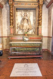Altar with Mary at Carmel Mission. CARMEL, USA - JULY 27: altar with Mary at Carmel Mission San Carlos Borromeo on July 27, 2008 in Carmel, USA. Pope Paul II was Royalty Free Stock Images