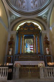 Altar of Mary, the protector of Puerto Rico. Royalty Free Stock Photo