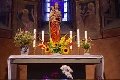 Altar for Mary Stock Photos