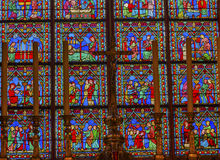 Altar Middle Ages Stained Glass Notre Dame Paris France Royalty Free Stock Images