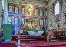 Altar of Mission Santa Ines church royalty free stock photo