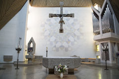 Altar modern church Stock Image
