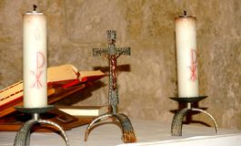 Altar of Montesiepi Heritage, Tuscany Stock Image