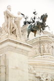 The Altar of Motherland covered by snow. The Alter of Motherland covered by snow, a really rare event in Rome stock images