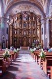 Altar na igreja Fotografia de Stock Royalty Free