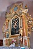 Altar na igreja fotografia de stock