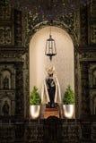 Altar na igreja da vila de Ribeira Brava, imagens de stock royalty free