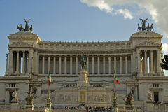 The Altar of the native land, Rome. The Vittorio Emanuele II monument in Piazza venezia, Rome Stock Photo