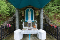 Altar near the healing spring of Tustan. Lviv region. May month Royalty Free Stock Image